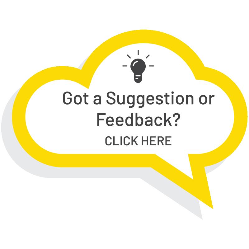 Got a suggestion or feedback?